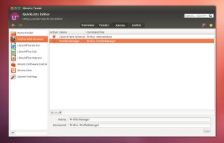 ubuntu tweak - quicklists